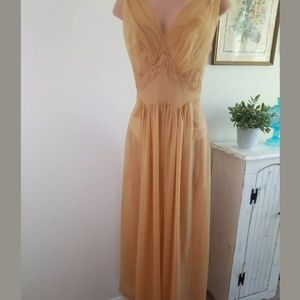 Vintage 1950's Antique Gold Nightgown